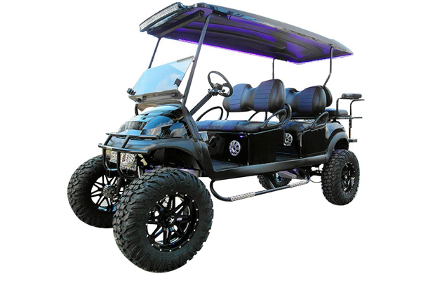 CUSTOM 2016 CLUB CAR PRECEDENT 'MONSTER' GAS POWERED SIX-PASSENGER