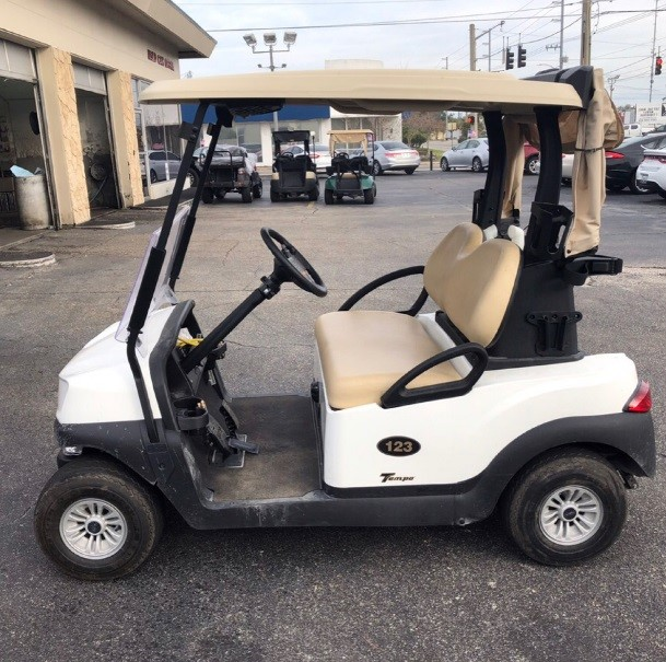 2019 Club Car Tempo (White): Windshield & Clubs Cover Included