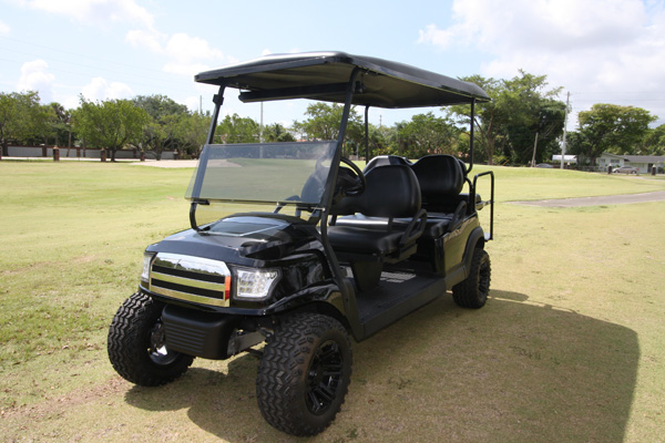 Club Car Precedent 48v with black Alpha body #LB621 front view