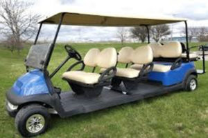 8 Passenger 48v Electric Club Car Stretch Limo Golf Cart #88