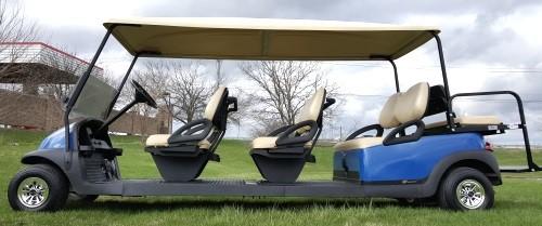 8 Passenger 48v Electric Club Car Stretch Limo Golf Cart #88
