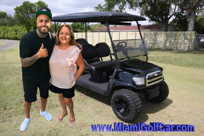 Ricky Jam Miami Florida Club Car 6 passengers  black