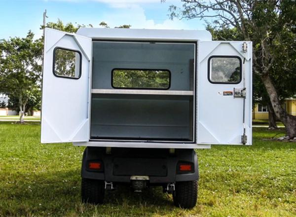 Club Car Carryall 500  GAS Enclosed Cargo Box SKU U254E back view