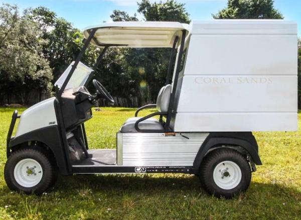 Club Car Carryall 500  GAS Enclosed Cargo Box SKU U254E side view