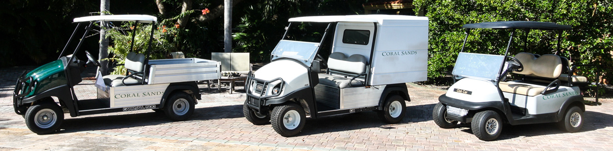 Golf carts for Coral Sands Resort - Harbour Island, Bahamas