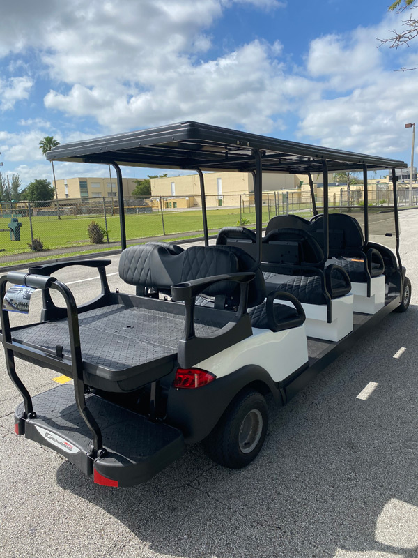 Club Car 8 passenger golf cart SKU87 Miami FL -side back view