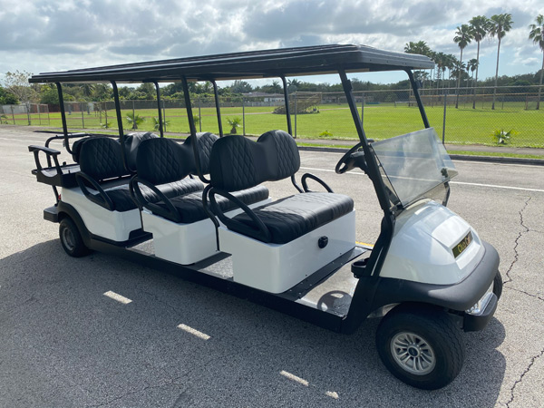 Club Car 8 passenger golf cart SKU87 Miami FL side view