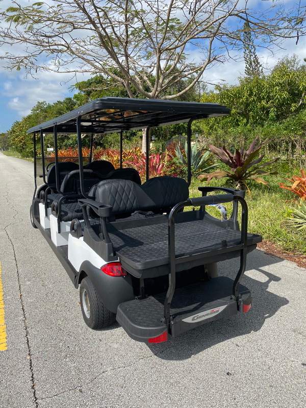 Club Car 8 passenger golf cart SKU87 Miami FL rear view