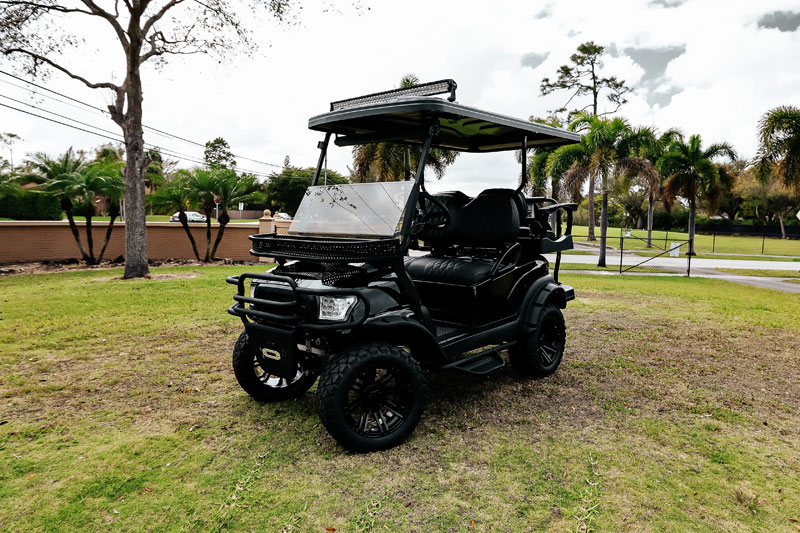 Alpha Black Golf Cart SKU 22 front