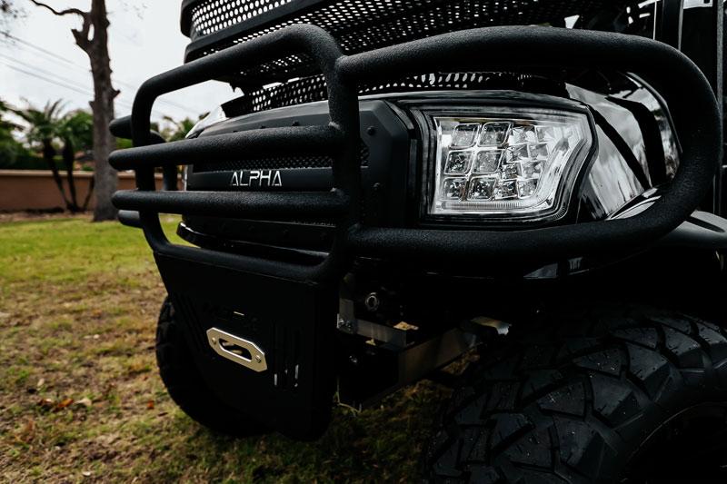 Alpha Black Golf Cart SKU 22 front up close