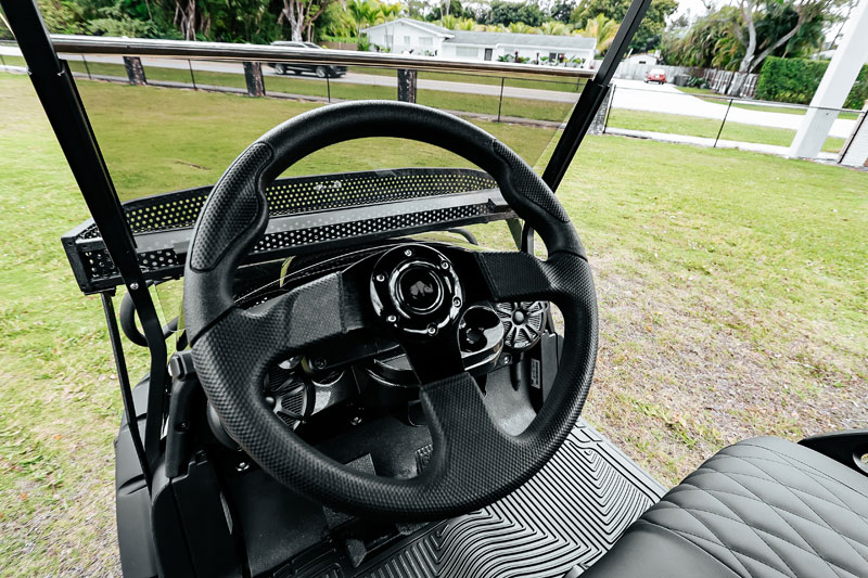 Alpha Black Golf Cart SKU 22 wheel