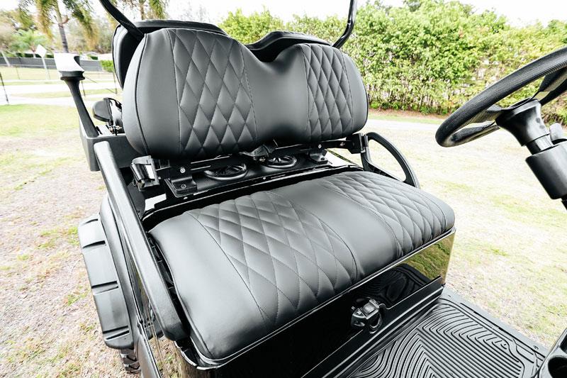 Alpha Black Golf Cart SKU 22 seat
