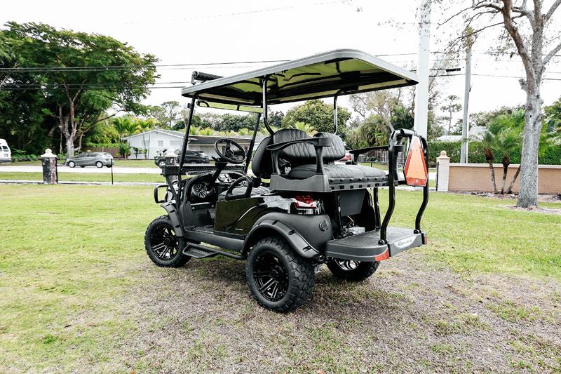 Alpha Black Golf Cart SKU 22 side