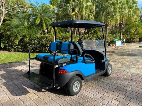 Bahama Blue Club Car Precedent SKU #C186 back
