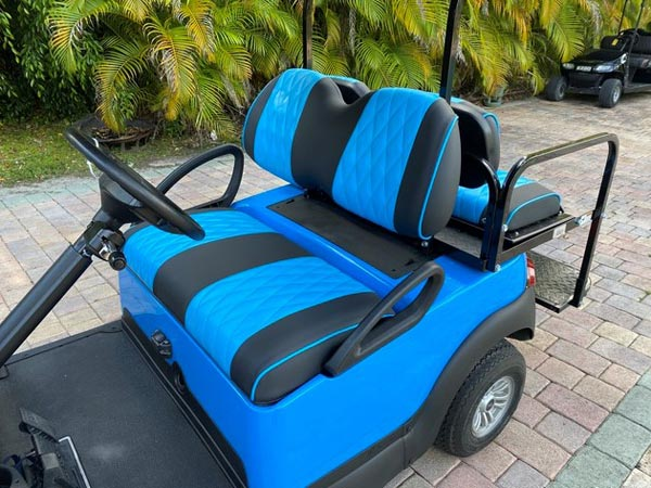 Bahama Blue Club Car Precedent  SKU #C186 seats