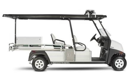 Club Car Villager 6 with cargo flat bed