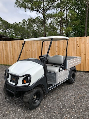 Pre own 2016 Club Car Carryall 500 Gas White SKU U266 side view
