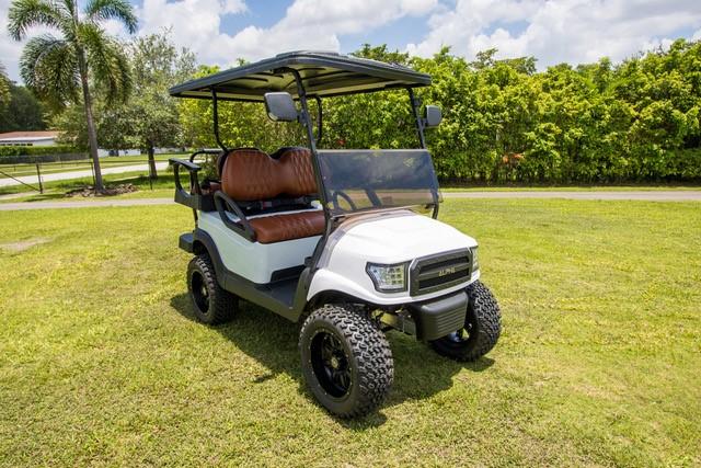Golf cart customer Carlo Rodriguez