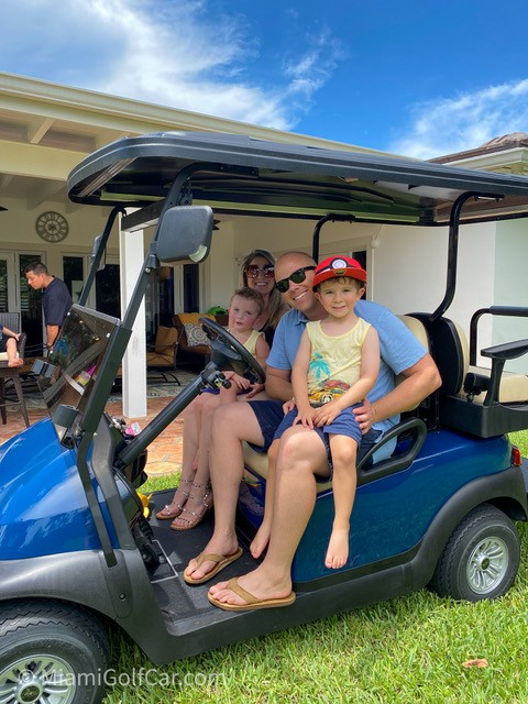 Golf cart VIP customer in Miami Shores F