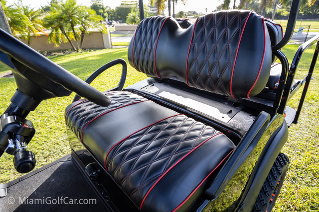 Club Car Precedent 4 Passenger Black - SKU #440 seat