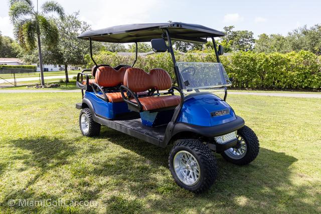 Club Car Precedent 6 Passenger Metallic Blue - SKU #648 side