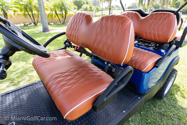 Club Car Precedent 6 Passenger Metallic Blue - SKU #648 seats