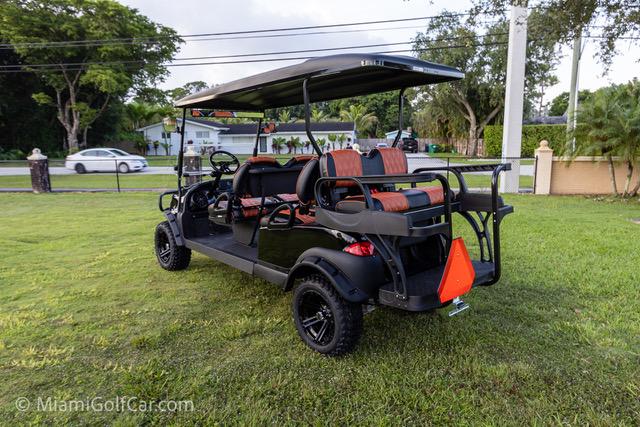 Club Car Precedent 6 Passenger Alpha Black  - SKU 649 side back