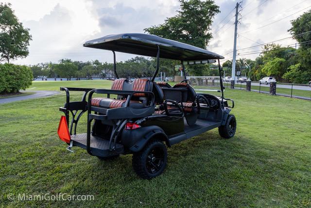 Club Car Precedent 6 Passenger Alpha Black  - SKU 649 back