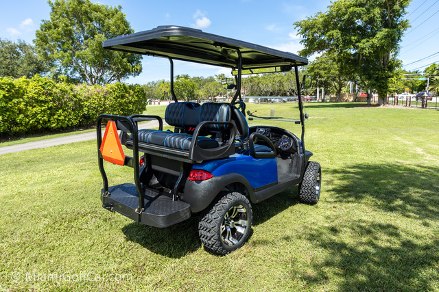 Club Car Precedent 4 Passenger Blue - SKU 439 back