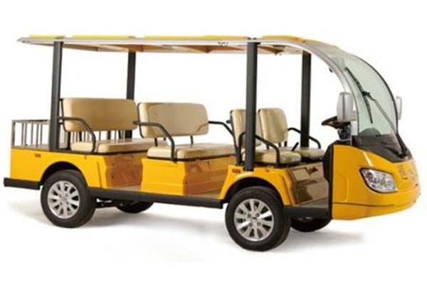 8 Passenger Electric Sightseeing Car Yellow  SKU #801E
