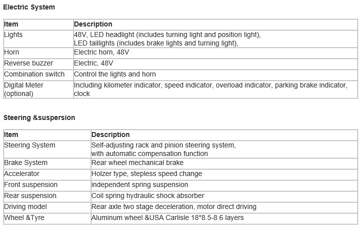 8 Passenger Electric Sightseeing Car Yellow  SKU #801E specs