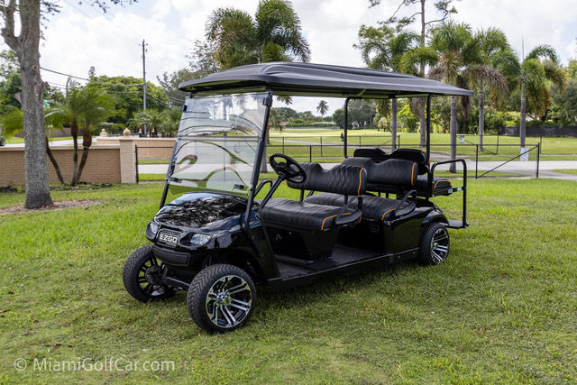 EZGO TXT Gas Powered 6 Passenger Black - SKU #647