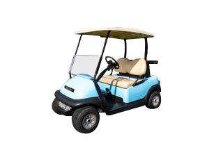 Club Car Precedent 2 Passenger Blue with strobe lights SKU247