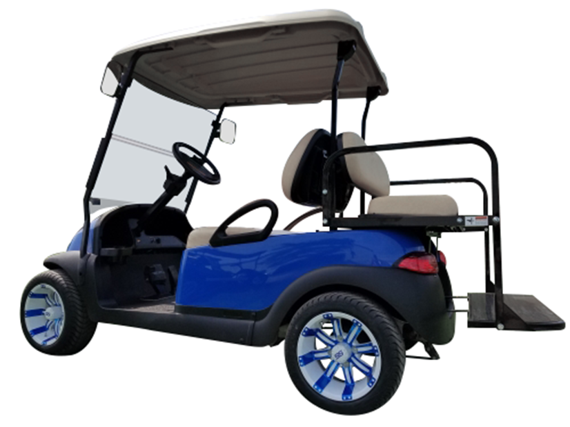 Club Car Precedent Blue SKU 431 side view seats up