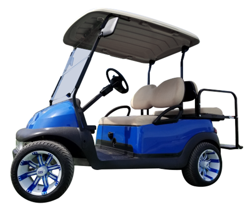 Club Car Precedent Blue SKU 431 side