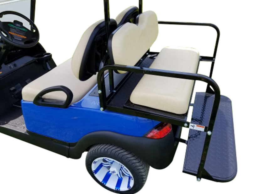 Club Car Precedent Blue SKU 431 back seats