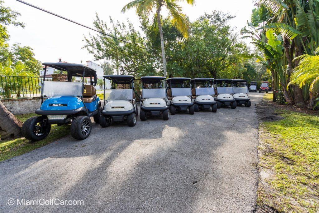 7 club car golf carts for Ecuador