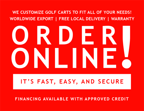 Order online customize golf cart to fit your needs in Miami FL