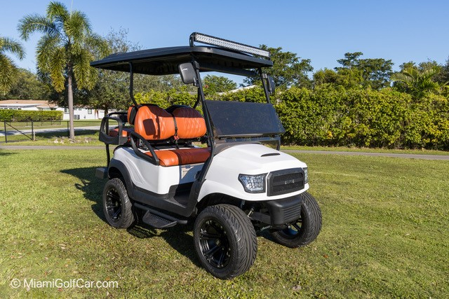 Fisher Island customer of golf cart