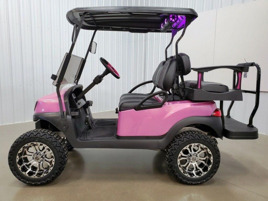 Club Car Tempo 48 v  Golf Cart Kandi Pink SKU 427