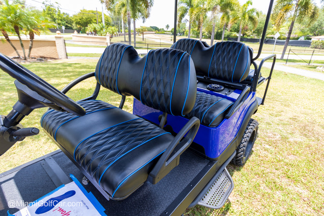 Club Car Precedent 6 Passenger Alpha Blue - SKU 643 seats