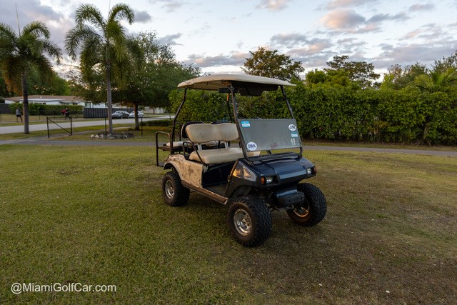 Before golf cart restoration